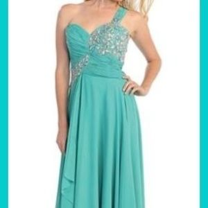 Mint Green Sequin Beaded Sweetheart Gown